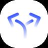 blue arrows icon