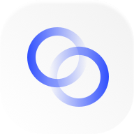Interlocked blue rings icon