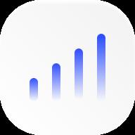 blue bar chart icon