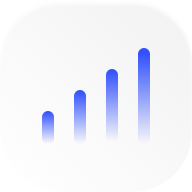 blue bar chart icon